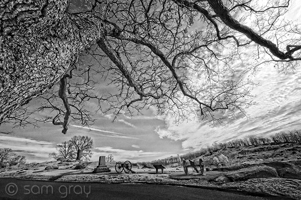 Top of Devils Den, Little Roundtop in Background - Nikon D200 IR