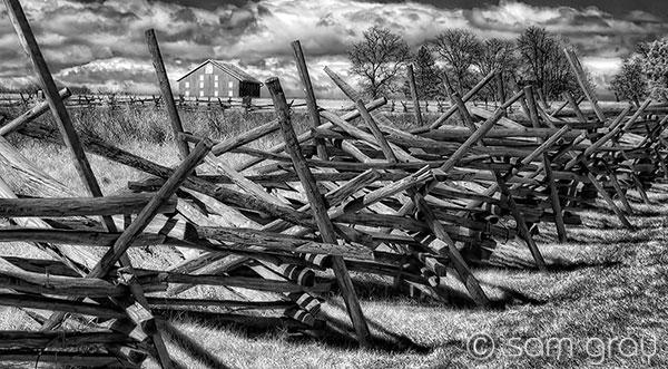 Sherfy Barn, Peach Orchard, Gettysburg Battlefield - IR, D200