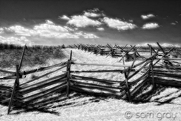 The Wheatfield, Gettysburg Battlefield - Nikon D200 IR