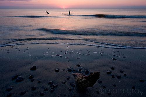 Driftwood Beach Sunrise - D700, 14-24mm f/2.8